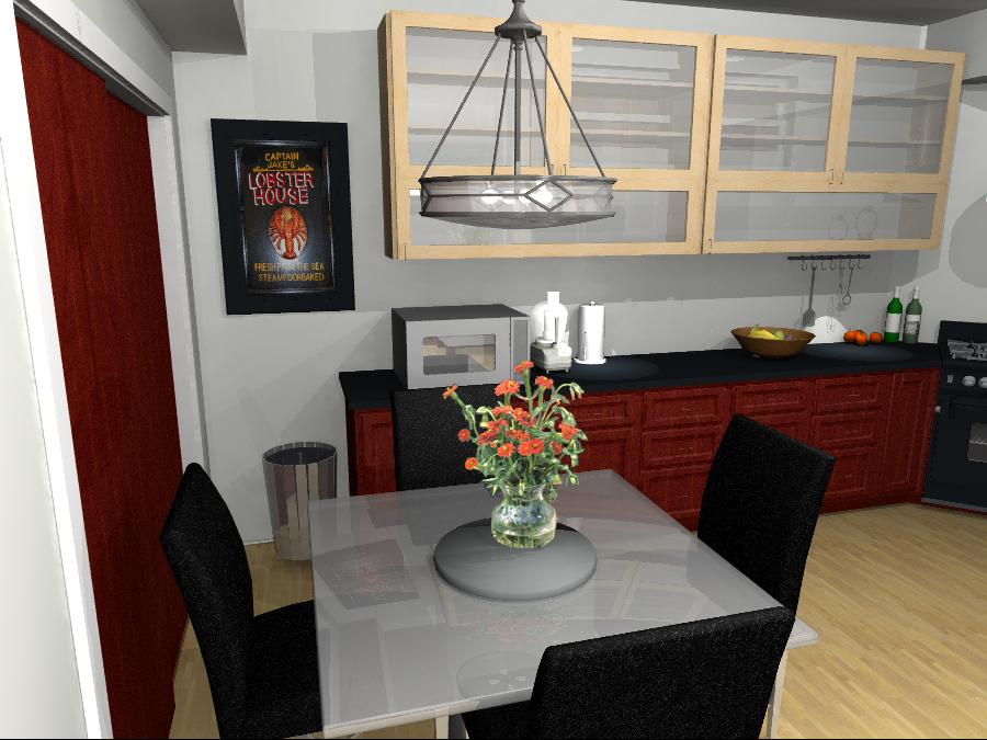 Interior Design Kelowna - Creative Touch - Design Render of dining area