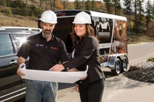 Interior Design Kelowna - Paulette with contractor team member