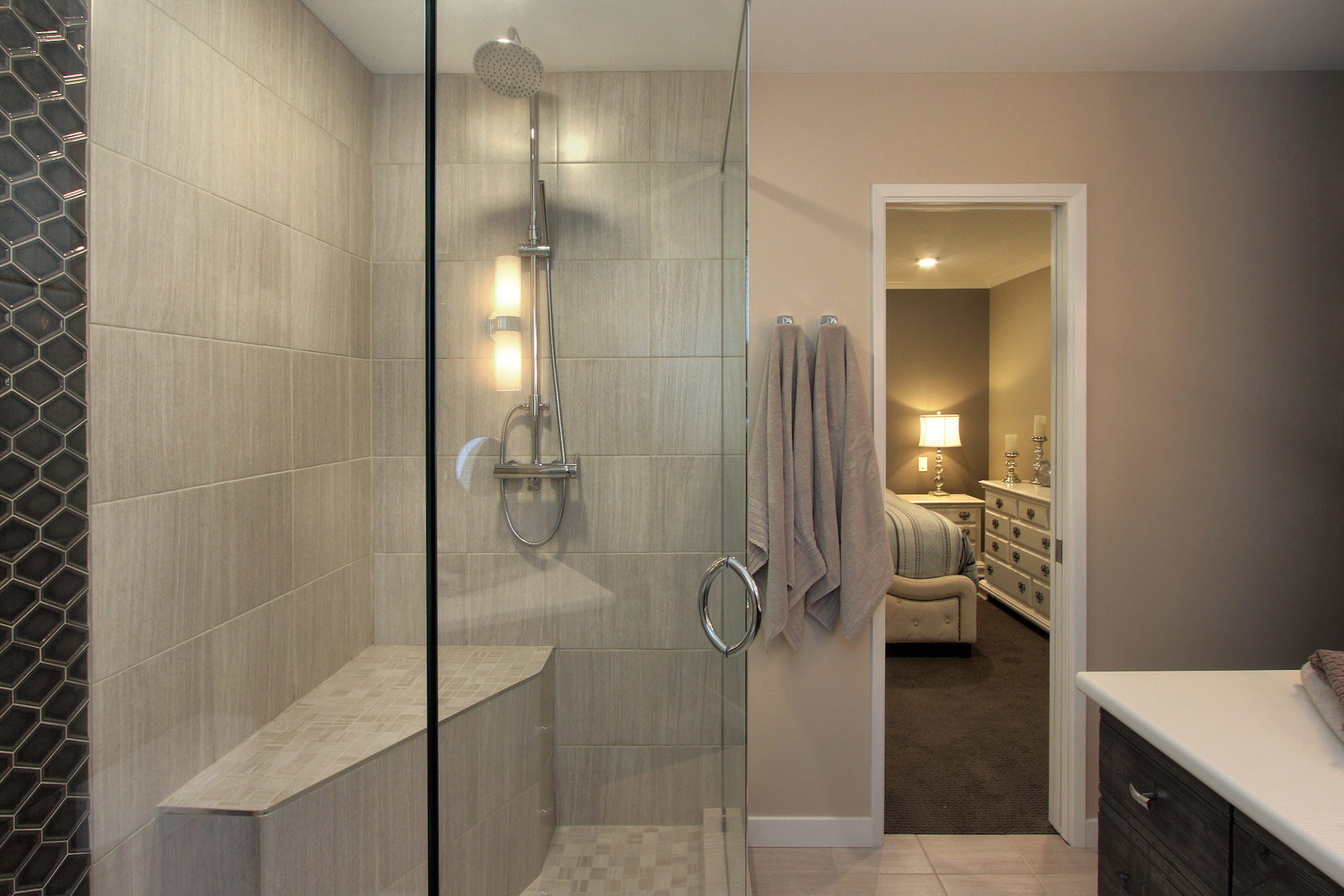 Interior Design Kelowna - Custome bathroom design by Creative Touch Interiors