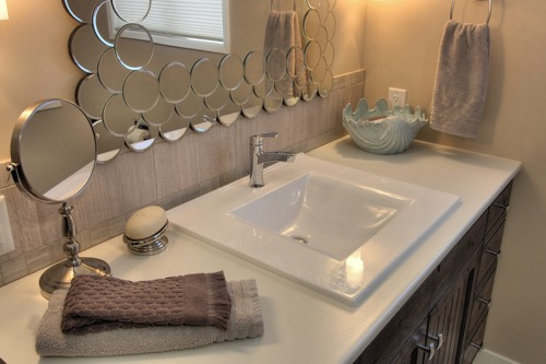 Interior Design Kelowna - Creative Touch - Ensuite bathroom sink