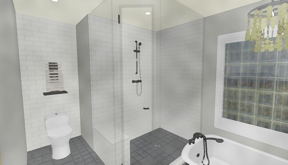 Cascia Drive Bathroom Render | Creative Touch Kelowna Interior Design
