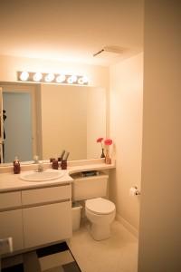 Full home renovation - main bath before | Creative Touch Kelowna Interior Design
