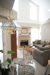 Full home renovation - living room and dining area before | Creative Touch Kelowna Interior Design