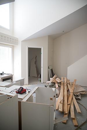 Renovation in Progress: Living Room